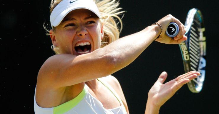High decibel tennis: Maria Sharapova.