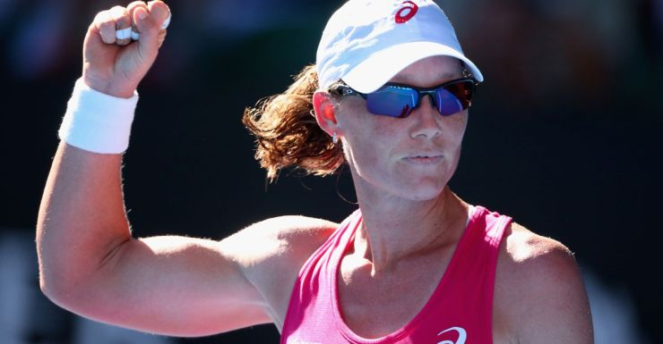 Samantha Stosur was relieved to make it past the opening round.