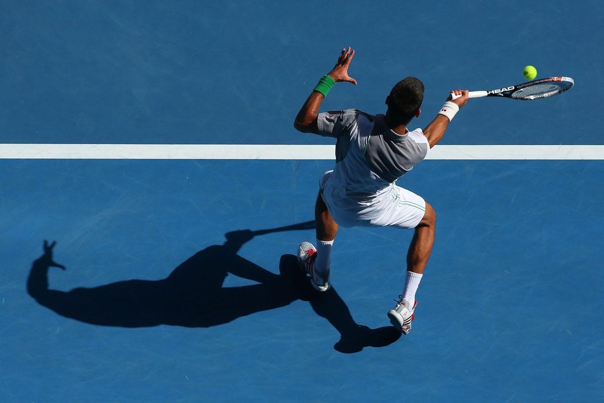 No sweat: Novak Djokovic.