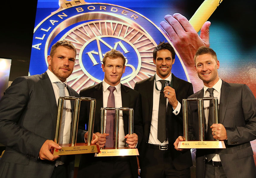 Aaron Finch, George Bailey, Mitchell Johnson and Michael Clarke