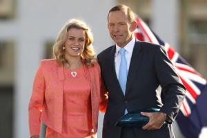 Jacqueline Freney with Prime Minister Tony Abbott.