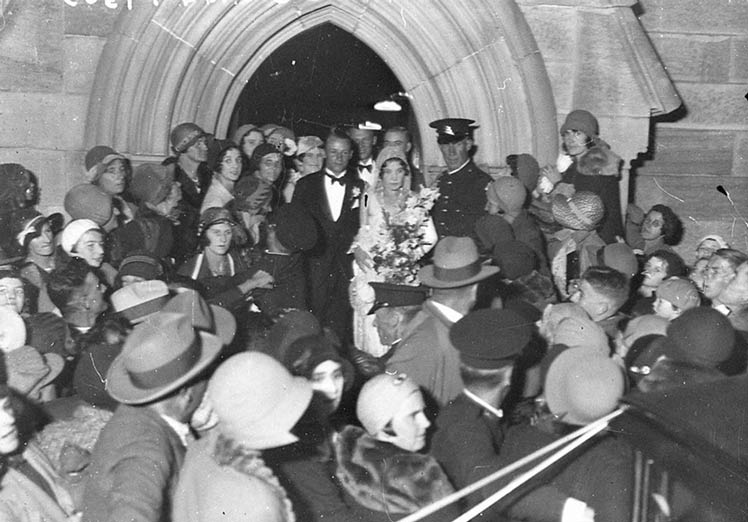 Donald Bradman's wedding