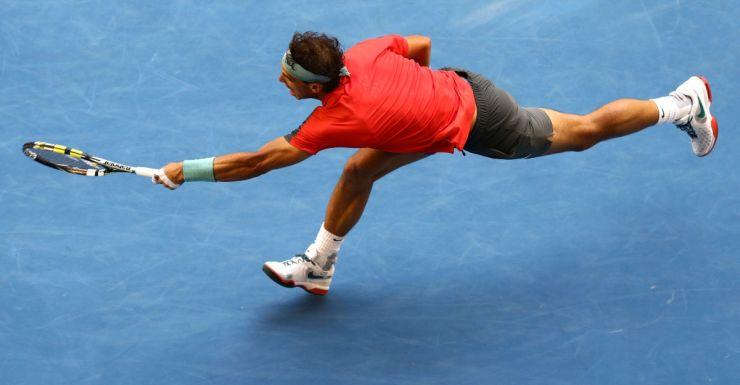 Rafael Nadal was extended by Kei Nishikori.