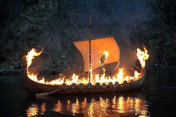 A Viking farewell.