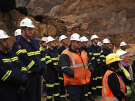 Workers at Tasmania's Mt Lyell mine
