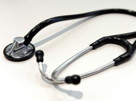 A stethoscope at a hospital