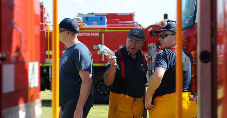 South Australian fire fighters