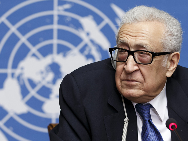 The UN's Syria envoy Lakhdar Brahimi