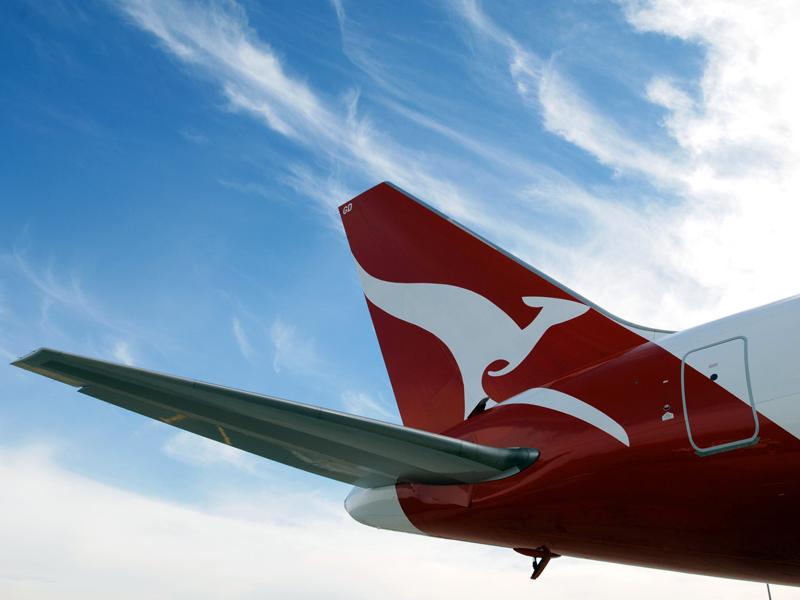 File photo of a Qantas jet