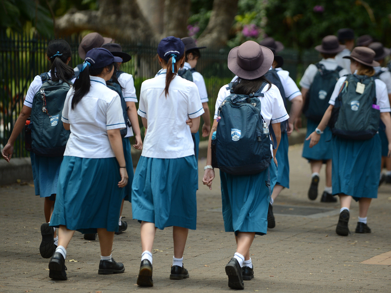 A group of high school students in Brisbane