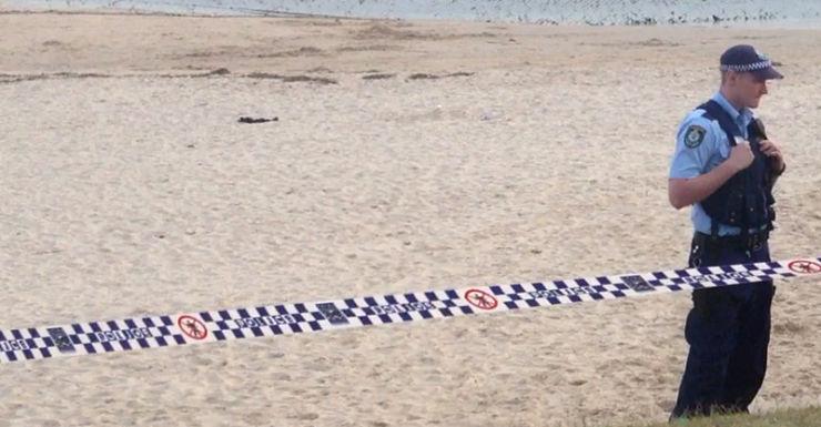 A police officer at Dolls Point, Sydney