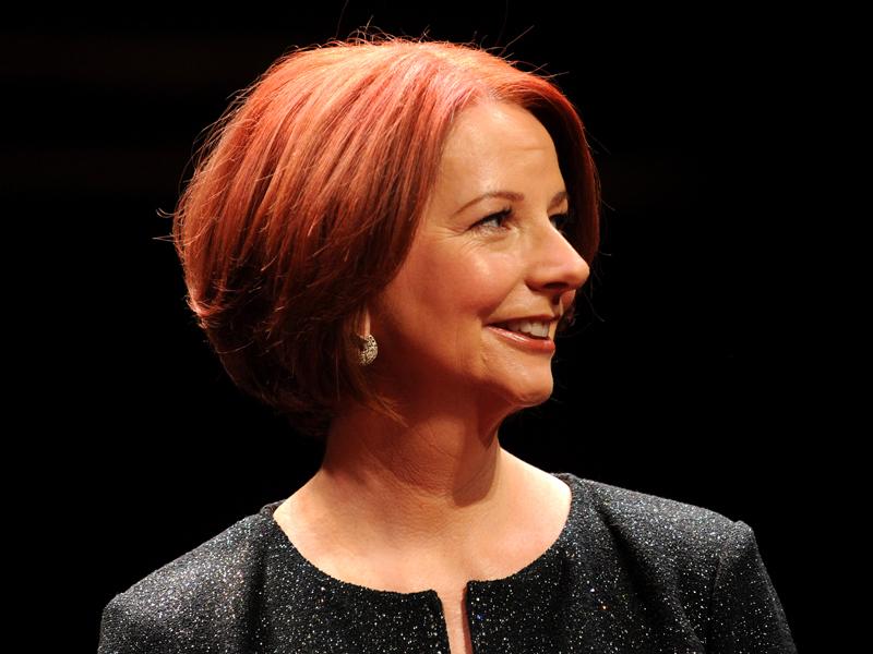 Former Australian prime minister Julia Gillard