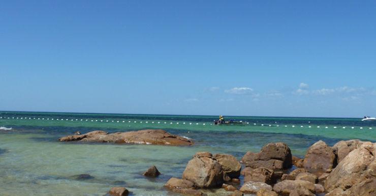 A shark barrier seen in Perth