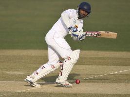 Sri Lanka's Kumar Sangakkara in action