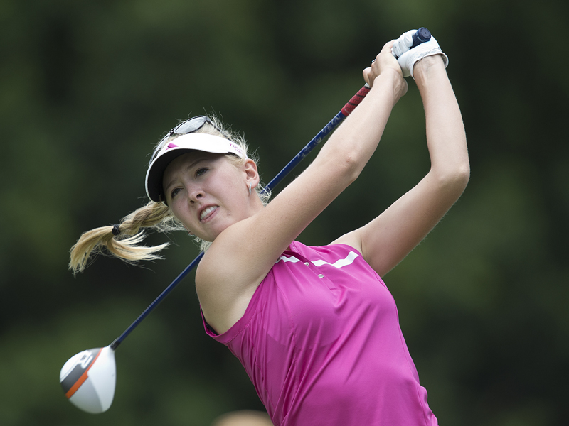 Jessica Korda in action at the Australian Ladies Masters