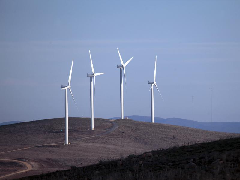 File photo of a wind farm