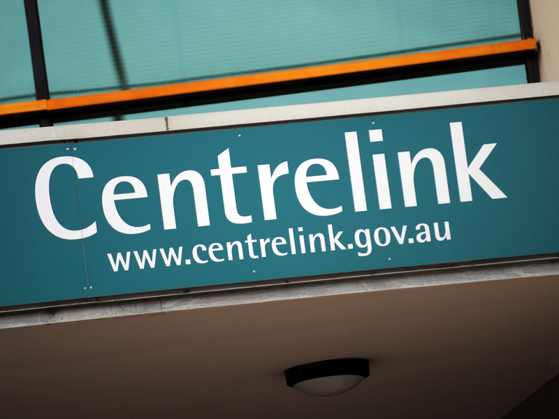 A file photo of Centrelink signage