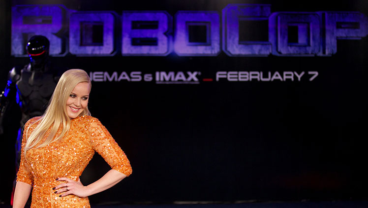 Aussie influence ... Abbie Cornish at the RoboCop premiere in London.