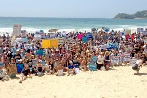 Shark protest