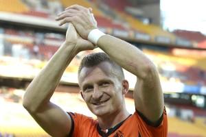 Besart Berisha farewells the Brisbane fans.