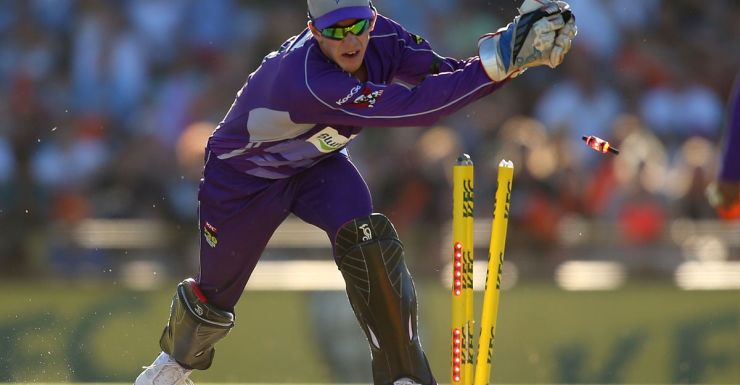 Tim Paine and his 'overgrown' gloves.