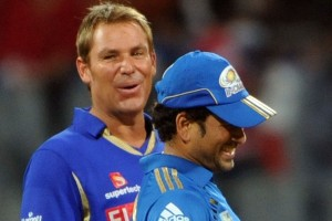 IPL cobbers: Warne and Tendulkar.