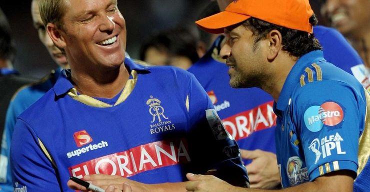 IPL buddies: Warne and Tendulkar.