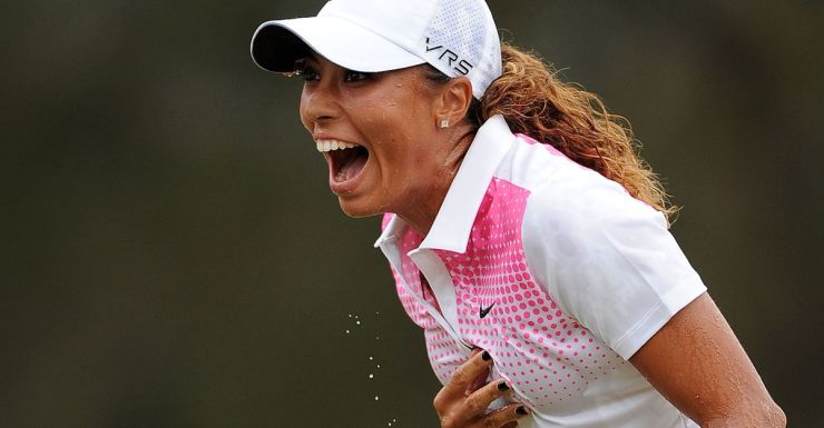 Cheyenne Woods after sealing her win.