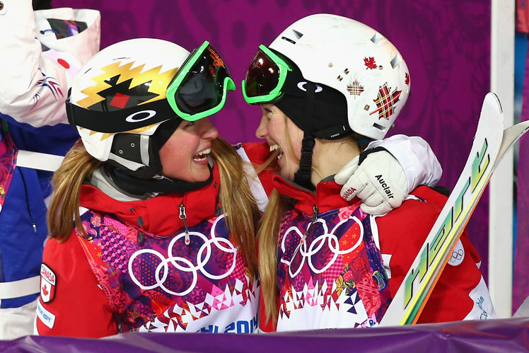 Gold and silver: sisters Chloe and Justine Dufour-Lapointe of Canada.