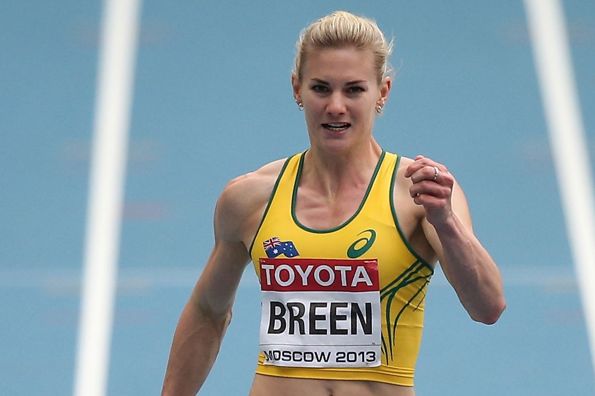 Melissa Breen beat Sally Pearson for the first time in 30 attempts.