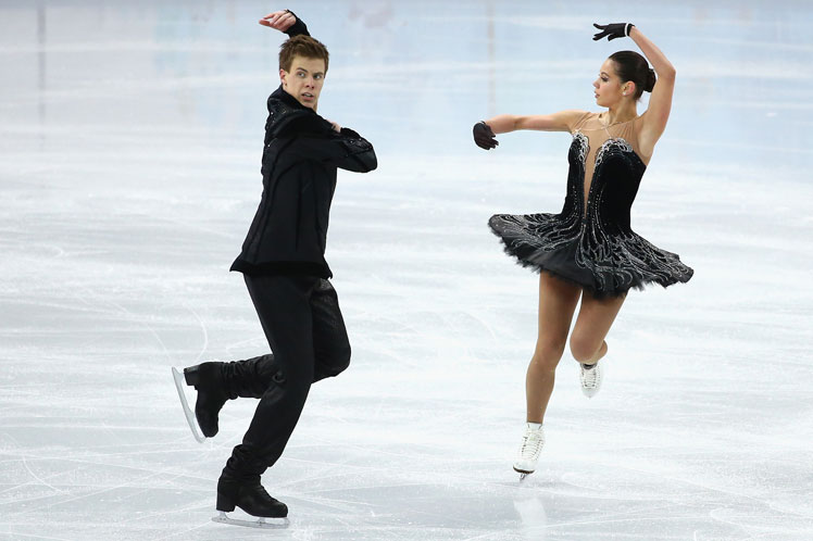 Russian pair Elena Ilinykh and Nikita Katsalapov in the figure skating. Picture: Getty