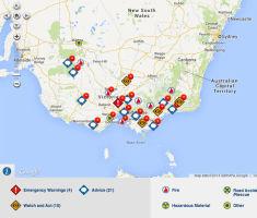 CFA Fire map