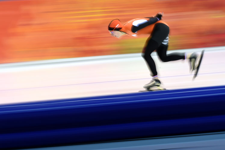 Irene Wust in the speed skating. Picture: Getty