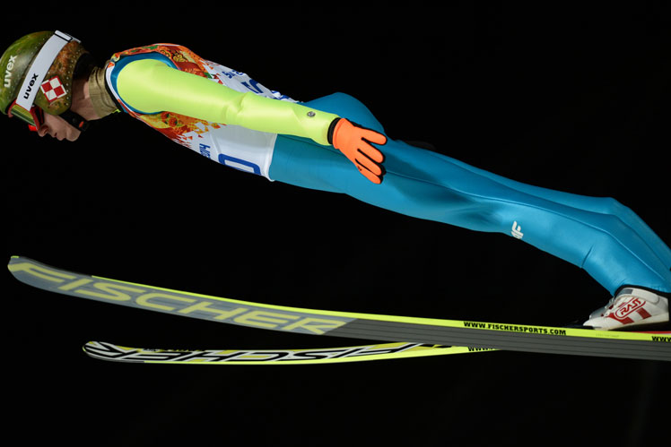 Poland's Kamil Stoch gets airborne. Picture: Getty