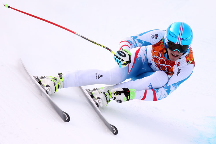 Matthias Mayer powers to gold. Picture: Getty