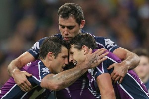 Brothers in arms: Cameron Smith, Cooper Cronk and Billy Slater.