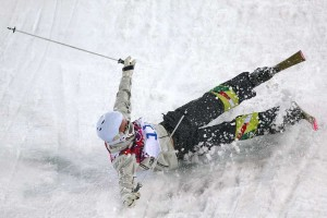 That's it folks: Dale Begg-Smith crashes out of the Sochi Olympics.