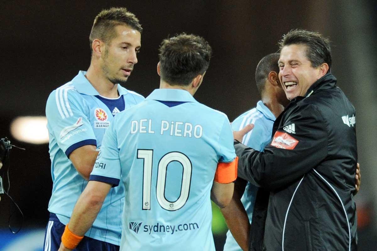 Del Piero and Frank Farina