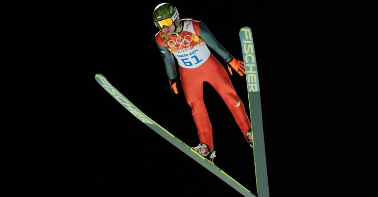 Kamil Stoch of Poland flies to victory in the ski jumping.