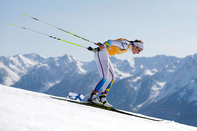 Anna Haag, a member of Sweden's winning cross country relay team. Picture: Getty