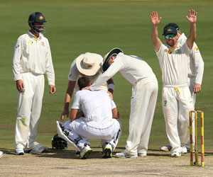 Ryan McLaren after being felled by Johnson. Picture: Getty