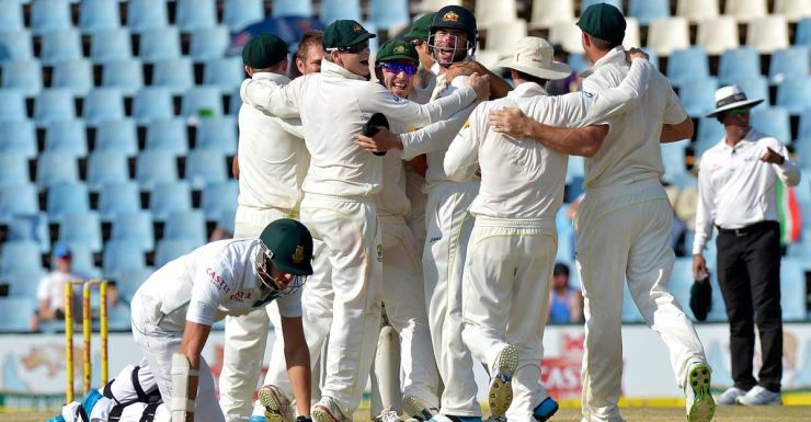 The run out of Morne Morkel completes Australia's victory.