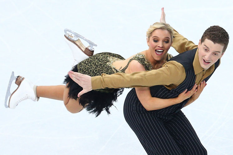 Danielle O'Brien and Greg Merriman in the ice dance. Picture: Getty