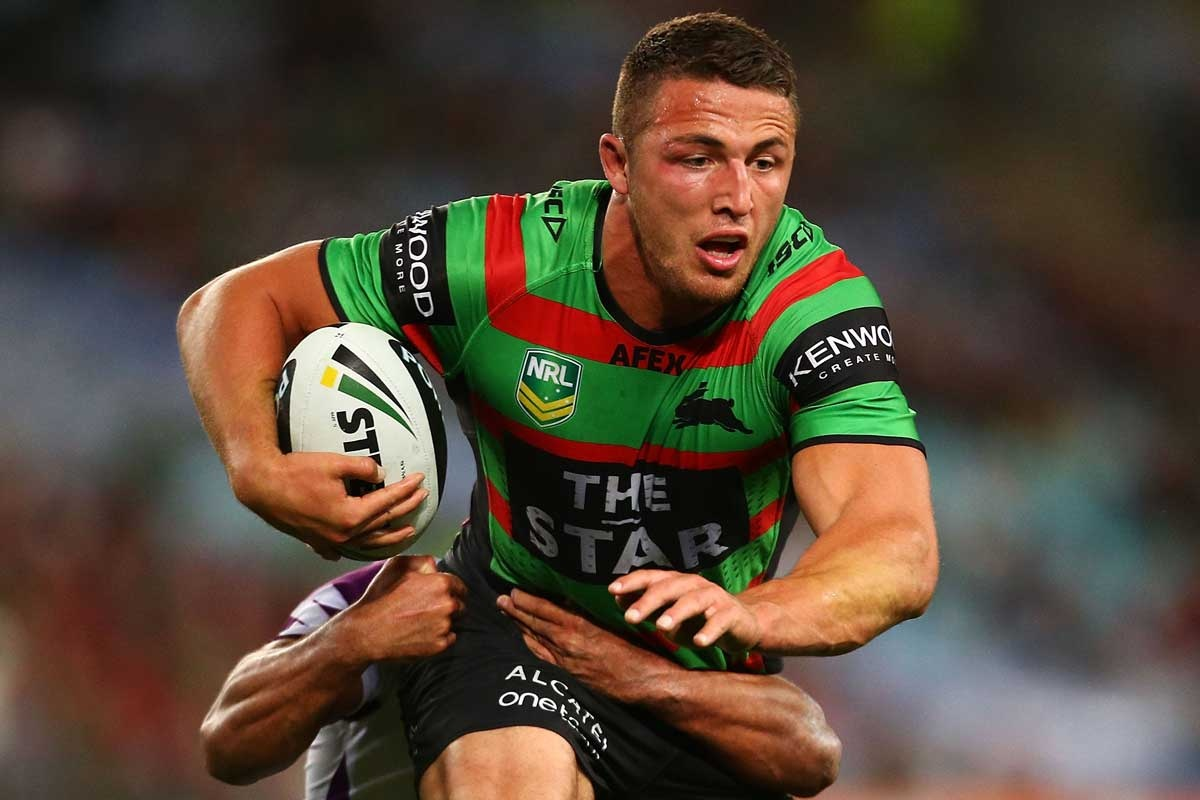 One last fling: 2014 will be Sam Burgess' final season with the Rabbitohs.