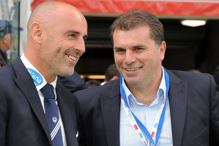 Kevin Muscat and Ange Postecoglou