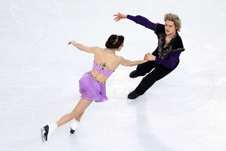 Maryl Davis and Charlie White of America in the ice dance. Picture: Getty