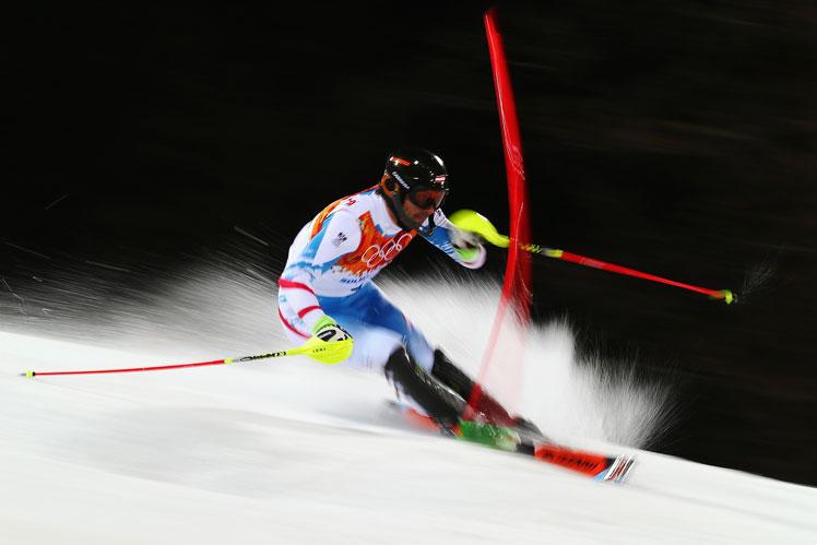 Still speedy at 34: Austrian Mario Matt. Picture: Getty