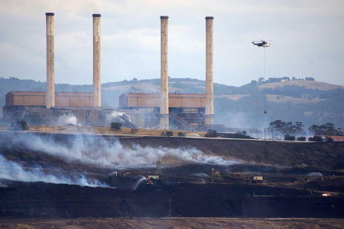 Hazelwood coal mine fire