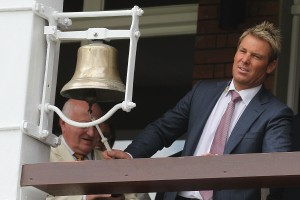 Shane Warne at Lord's in a ceremonial capacity.