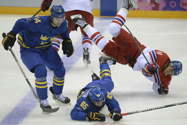sweden:czech republic ice hockey